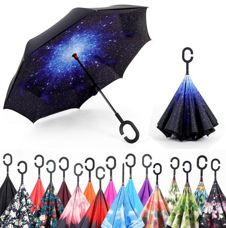 Ветрозащитный зонт с обратным механизмом